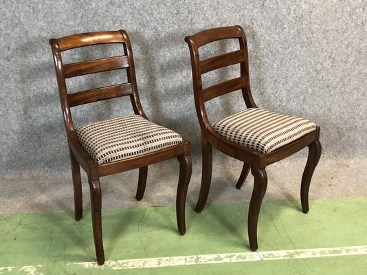 Antique Mahogany Chairs, Set Of 2 1