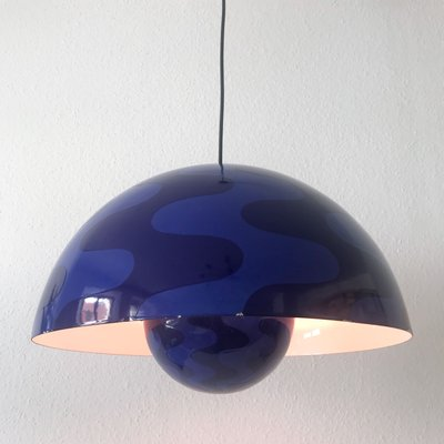 Pamono & Large Flower Pot Pendant Lamp by Verner Panton for Louis Poulsen 1970s