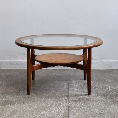 Mid Century Round Coffee Table 1960s 1