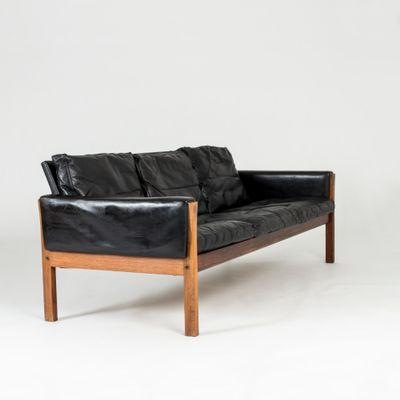 Ch 163 Leather Sofa By Hans J Wegner For Carl Hansen Søn 1960s