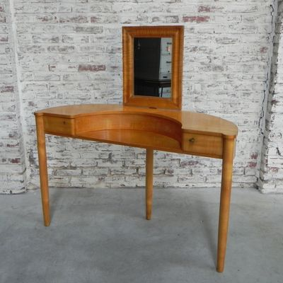Vintage Dressing Table With Mirror, 1950s 2