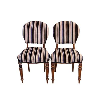 Antique Mahogany Balloon Back Dining Chairs, 1870s, Set of 2 1 - Antique Mahogany Balloon Back Dining Chairs, 1870s, Set Of 2 For