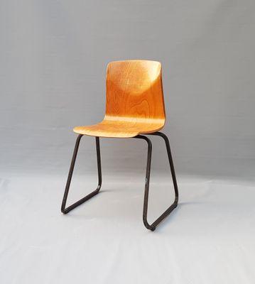 Vintage Metal Wood Chair From Galvanitas 1