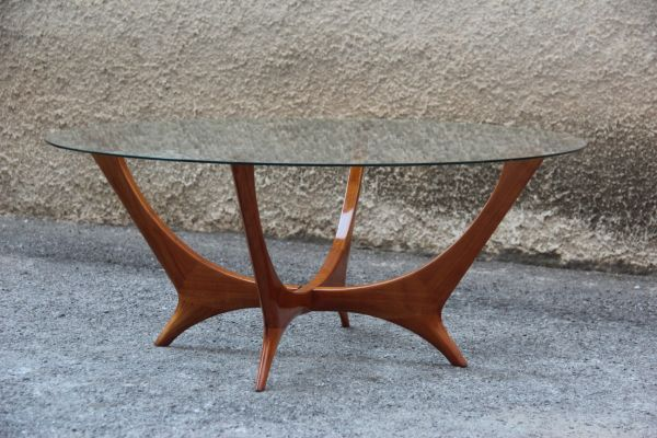 Terrific Mid Century Italian Cherry Coffee Table 1950S Pabps2019 Chair Design Images Pabps2019Com