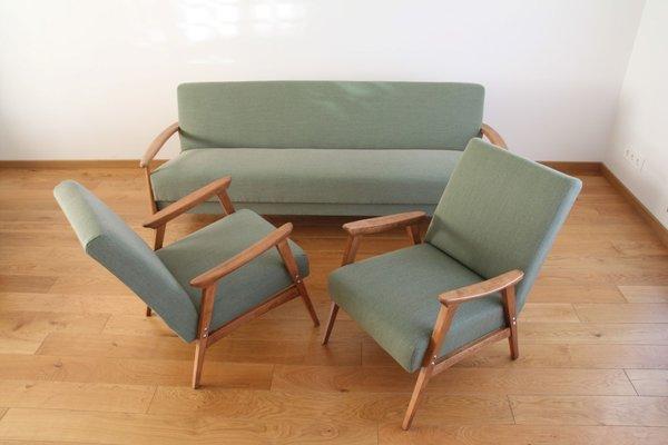 Mid Century Danish Teak Sofa Bed, 1969 1