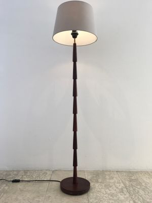 Mid Century Danish Wooden Floor Lamp 1960s For Sale At Pamono