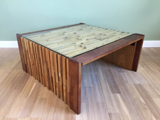 Brazilian Foldable Coffee Table By Percival Lafer 1970s