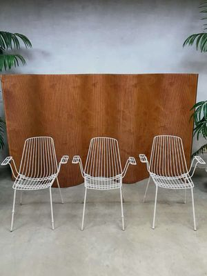 Vintage Metal Garden Chairs From Erlau Munich Set Of 4 1