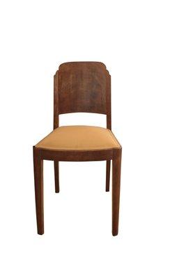 Art Deco Walnut Dining Table \u0026 6 Chairs, 1920s