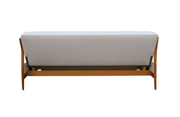 Light Beige Cherry Daybed Sofa 1960s 10