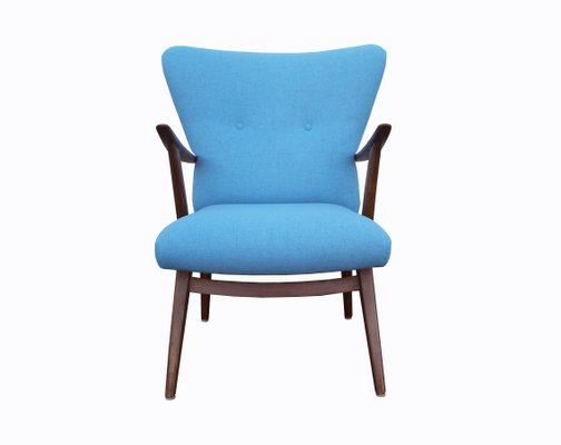 Beau Vintage Light Blue Armchair, 1950s 1