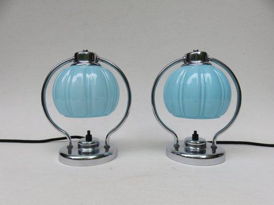 Verchromte Vintage Nachttischlampen 2er Set