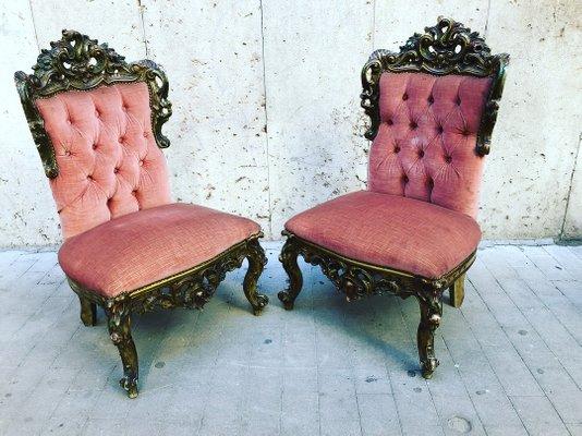Antique Venetian Lounge Chairs, Set of 2 1 - Antique Venetian Lounge Chairs, Set Of 2 For Sale At Pamono