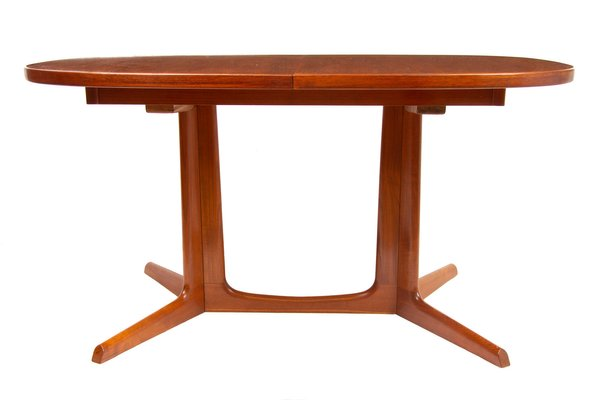 Mid Century Teak Extending Dining Table By Niels Otto Moller For