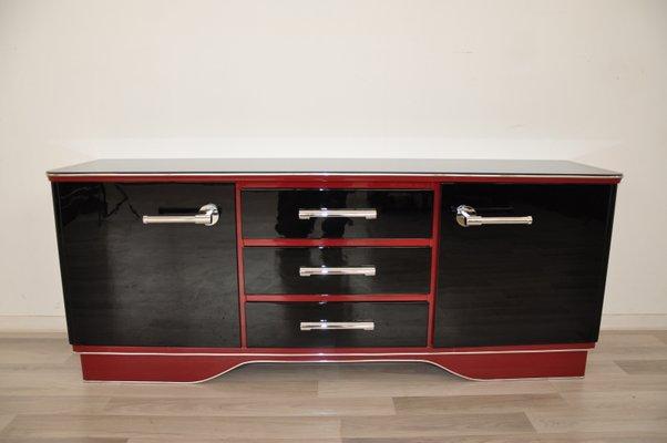 Credenza Bassa Da Giardino : Credenza bassa vintage rossa e nera in vendita su pamono