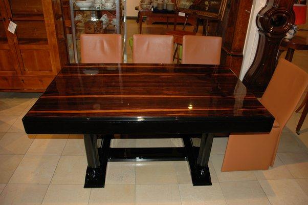 table de salle manger art dco avec plateau en palissandre 1920s 2