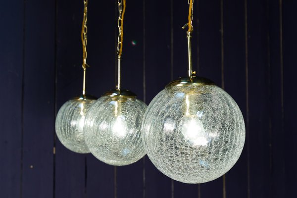 Lampade In Vetro Soffiato : Lampada a sospensione in vetro soffiato a mano in vendita su pamono