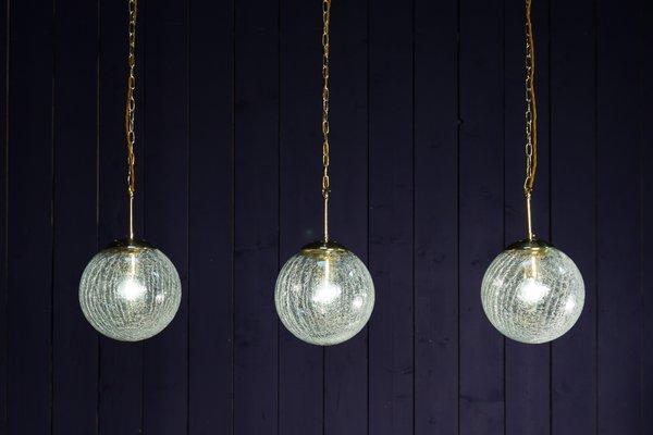 Lampe Suspension Craquelé En Verre À Vintage Globe xrtshQdC
