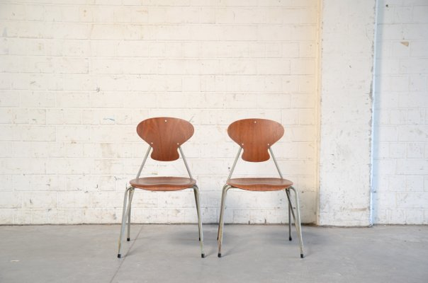 Vintage Danish Chairs By Steen Eiler Rasmussen U0026 Kai Lyngfeldt Larsen For  Danbork, Set Of