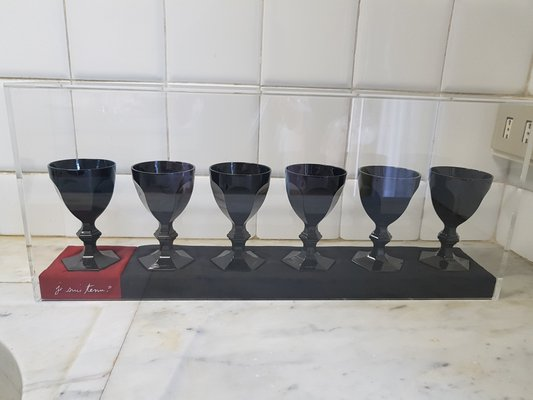 87a0dd4c370 Harcourt Dark Side Imparfait Glasses by Philippe Starck for Baccarat, 2006,  Set of 6