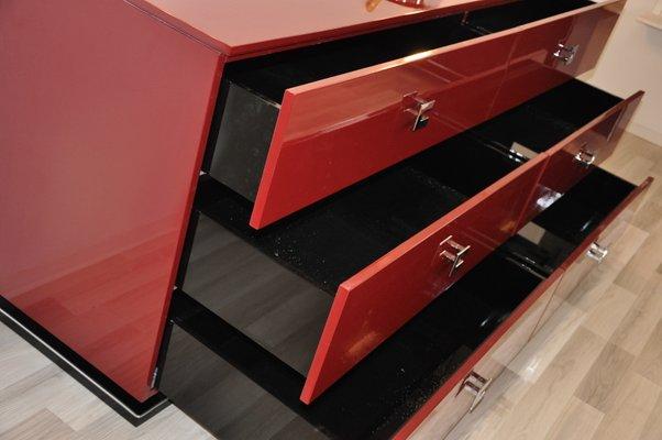 Credenza Moderna Rossa : Credenza art deco rossa anni in vendita su pamono