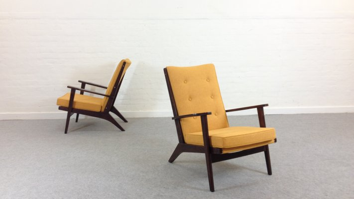 Mid Century Mustard Yellow Lounge Chairs From Parker Knoll 1950s
