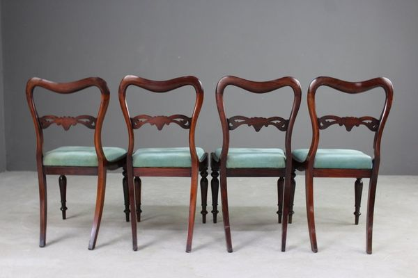 Antique Rosewood Dining Chairs, Set or 4 8 - Antique Rosewood Dining Chairs, Set Or 4 For Sale At Pamono