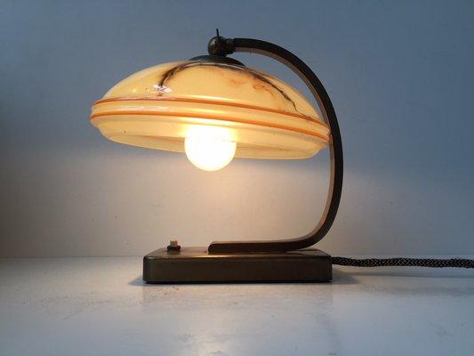 De Laitonamp; Ou Murale MarbréDanemark1940s Verre Applique En Bureau Lampe sBthdxQrC