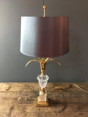 En S Cristal Par Bureau Boulanger De A Lampe Vintage Verre L4j35AR