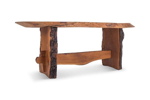 Tavoli Da Pranzo In Stile.Tavolo Da Pranzo In Stile Wabi Sabi In Legno Rosso Anni 60 In