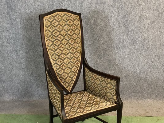 Antique Mahogany Armchair 2 - Antique Mahogany Armchair For Sale At Pamono