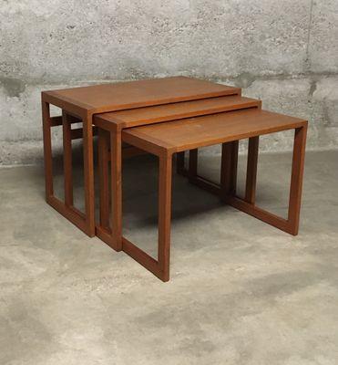 Danish Mid Century Teak Nesting Tables By Kai Kristiansen 1960s For
