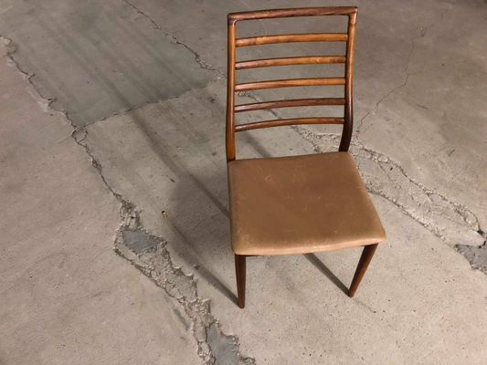 High Back Rosewood Chairs By Erling Torvits, 1960s, Set Of 4 1