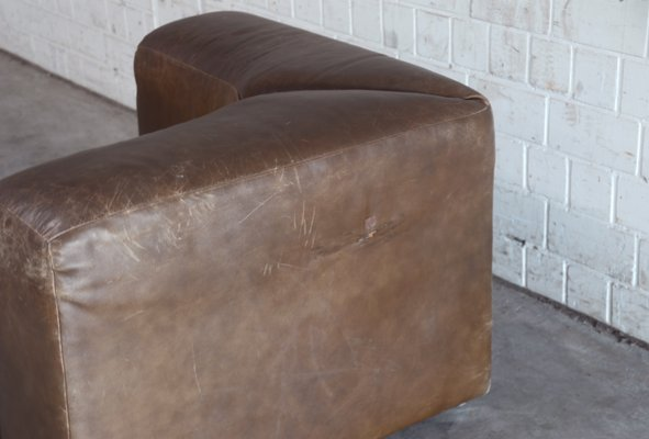 a4119efb6784b9 Vintage WK 550 Leather Sofa by Ernst Martin Dettinger for WK Möbel ...