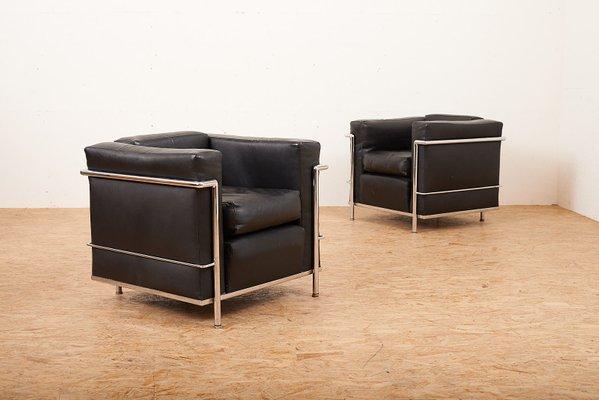 Stupendous Vintage Lc2 Lounge Chairs By Le Corbusier Charlotte Perriand For Cassina Set Of 2 Inzonedesignstudio Interior Chair Design Inzonedesignstudiocom