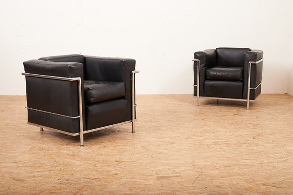 Vintage Lc2 Sessel Von Le Corbusier Charlotte Perriand Für Cassina