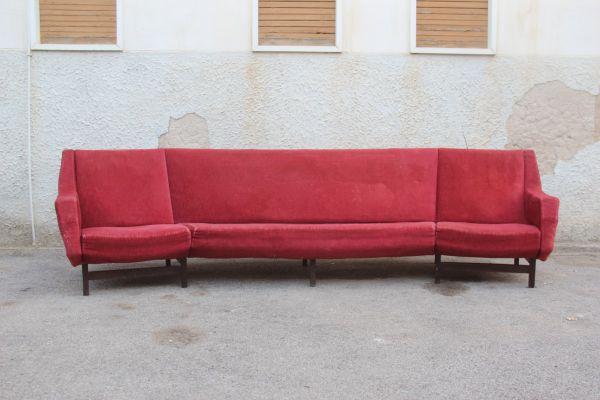 red velvet sofa. Mid-Century Modern Rosewood \u0026 Red Velvet Sofa, 1950s 1 Sofa