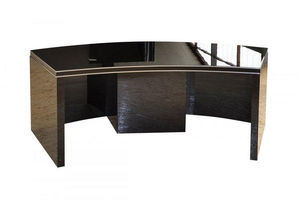 Art Deco Curved Desk 1930s For At, Art Deco Corner Writing Desk