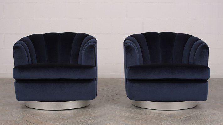 Outstanding Mid Century Modern Swivel Chairs 1960S Set Of 2 Evergreenethics Interior Chair Design Evergreenethicsorg