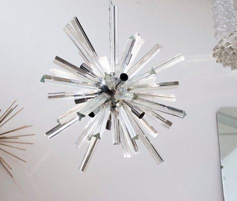 Italian Murano Glass Starburst Chandelier 1970s For Sale At Pamono