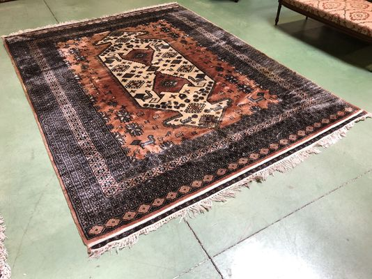 grand tapis vintage an laine soie 1 - Grand Tapis