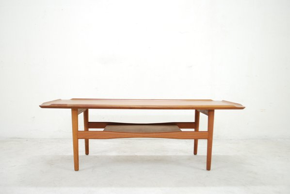 Merveilleux Danish Modern Teak Coffee Table By Poul Jensen For Selig 1