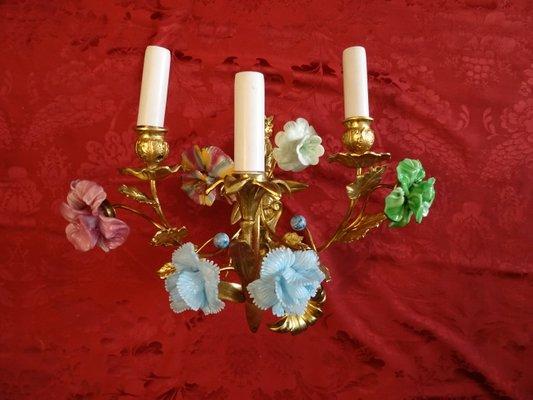 Applique antiche veneziane in vetro di murano set di in vendita