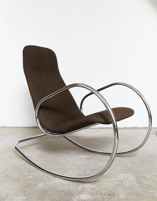 outlet store 919a4 784ef Vintage S826 Cantilever Rocking Chair in Chrome by Ulrich Böhme for Thonet