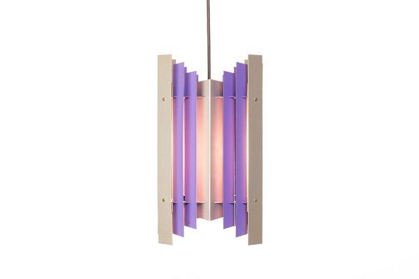 Pendant Lights In Purple Silver Metal By Preben Dahl For Hans Følsgaard Elektro A