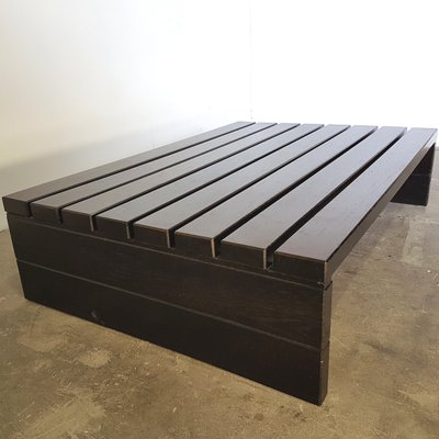 Solid Wengé Slat Coffee Table, 1970s 2