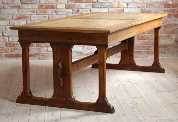 Antique Library Trestle Table 2