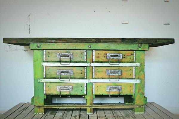 Banco Da Lavoro Vintage Anni 50 In Vendita Su Pamono