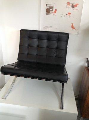 vintage barcelona chair von mies van der rohe fr knoll 1