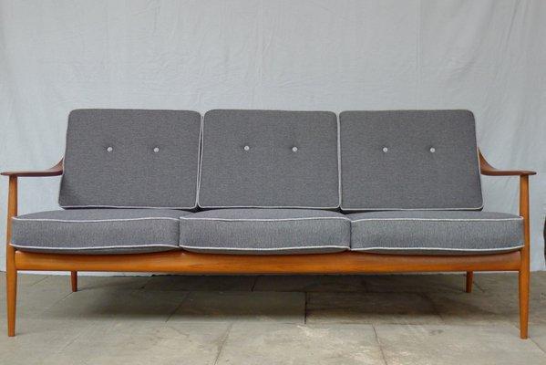 Vintage Antimott Teak Sofa From Wilhelm